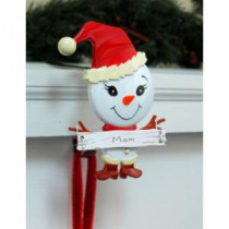 Original MantleClip Stocking Holder with Snowman Family Icon, Mom-BSM0104 206998279