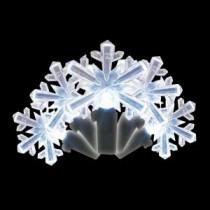 35-Light LED White Snowflake Shaped Light Set