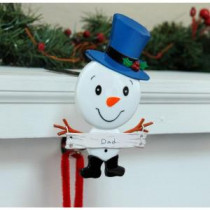 Dad Stocking Holder with Snowman Family Icon