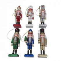 11.2 in. Nutcracker Christmas Ornament (6-Pack)