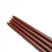 12 in. Brown Taper Candles (12-Set)