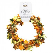 9 ft. Autumn Gold/Orange Maple Leaf Wire Garland (Set of 4)