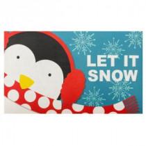 Let it Snow Penguin 18 in. x 30 in. Door Mat