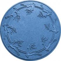 Aqua Shield Medium Blue 35 in. Round Reindeer Run Under the Tree Mat