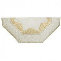 52 in. Ivory with Quilted Border Christmas Tree Skirt