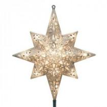 Holiday Classics 11 in. 16-Light Silver Glittered Bethlehem Star Tree Top