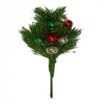 13 in. Artifical Pine Branches with Ornaments Picks