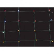 150-Light Multi-Color 8 in. x 7.5 ft. Ribbon Net Lights