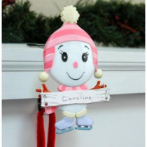 Daughter Stocking Holder with Snowman Family Icon