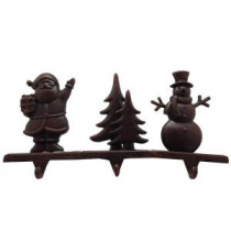 Home Accents Holiday 7 in. Pig Iron Christmas Tree, Santa and Snowman Stocking Holders (Assorted)-11973 205915562
