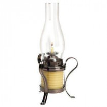 40 Hour Coil Candle With Hurricane Lamp