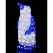 22 in. 100 White LED Decorative Blue Penguin