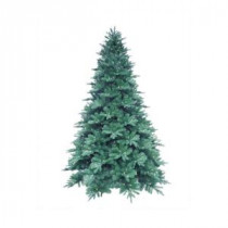 7.5 ft. Blue Noble Spruce Artificial Christmas Tree with 600 Clear LED Lights