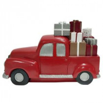 8 in. Truck with Presents Table Decor-Cherry