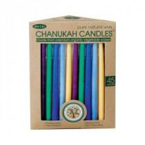 6 in. Multicolored Vegetable-Wax Hanukkah Candles (45 Per Box)