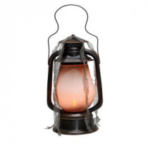 15 in. Graveyard Lantern with Flickering Flame