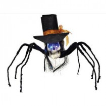 35 in. Skull Spider with Top Hat