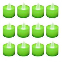 Green Flickering LED Tealights (Box of 12)
