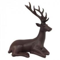 12 in. H Matte Brown Sitting Reindeer