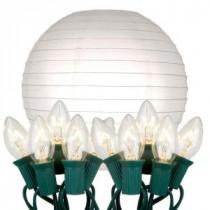 10 in. 10-Light White Paper Lantern String Lights