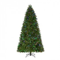 9 ft. Pre-Lit LED Sierra Nevada PE/PVC Quick-Set Artificial Christmas Tree with 8 Functions Color Changing Lights