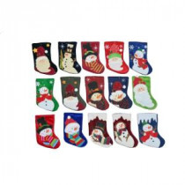 8 in. 15-Assorted Styles Mini Applique Stockings
