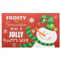 Frosty 18 in. x 30 in. Door Mat