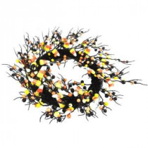 20 in. Artificial Wreath with Candy Corn