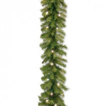 Norwood Fir 9 ft. Garland with Warm White LED Lights