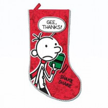 19 in. Wimpy Kid Printed Applique Stocking