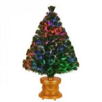 3 ft. Fiber Optic Fireworks Evergreen Artificial Christmas Tree