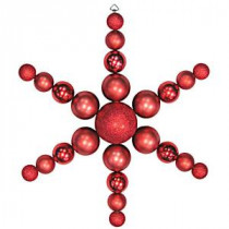 31 in. Red Shatterproof Star Flake Ornament