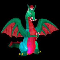 9 ft. H Inflatable Holiday Dragon