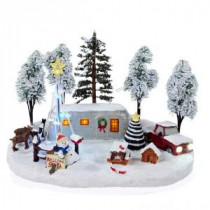 12 in. Battery-Operated Christmas LED Scene