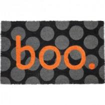 Boo 17 in. x 28 in. Non-Slip Coir Door Mat