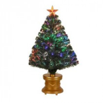 3 ft. Fiber-Optic Artificial Christmas Tree with Revolving LEDs