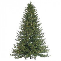 9 ft. Pre-Lit Natural Cut Rockford Pine Artificial Christmas Tree with Clear Lights