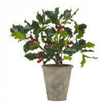 Fleur Collection 13 in. Potted Holly Plant