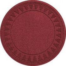 Aqua Shield Red/Black 35 in. Round Pine Trees Under the Tree Mat