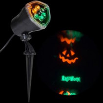 11.81 in. Whirl-a-Motion-Happy Halloween Light Stake Set