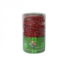 9 ft. LED Red Battery Operated Multi Braided Garland