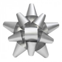19 in. Silver Metal Bow