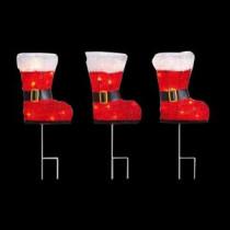 30-Light Red Boots Pathway Light (Set of 3)