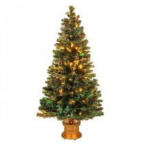 4 ft. Fiber Optic Fireworks Evergreen Artificial Christmas Tree