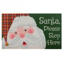 Santa Please Stop Here 18 in. x 30 in. Door Mat