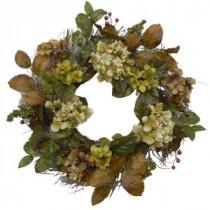 24 in. Fall Hydrangea Wreath