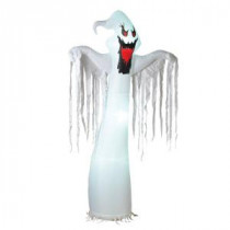 95.3 in. Electric Inflatable Lighted White Ghost