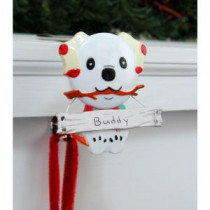 Original MantleClip Stocking Holder with Snowman Family Icon, Dog-BSP0104 206998281