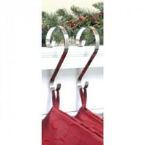 Haute Decor Stocking Scrolls Stocking Holders, Silver (2-Pack)-SS0204 206998484