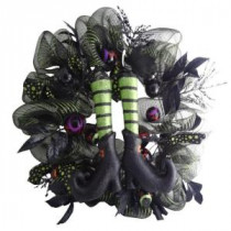 30 in. Witch Mesh Artificial Wreath